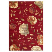 Kas Rugs Rose to Riches Red 2 ft. 3 in. x 4 ft. 1 in. Area Rug