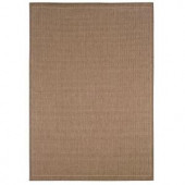 Home Decorators Collection Saddlestitch Cocoa and Natural 7 ft. 6 in. x 10 ft. 9 in. Area Rug