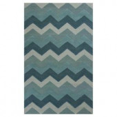 Kas Rugs Chevron Style Blue 2 ft. 3 in. x 3 ft. 9 in. Area Rug
