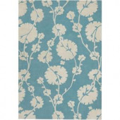 Chandra Amy Butler Blue/Ivory 5 ft. x 7 ft. 6 in. Indoor Area Rug