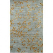 BASHIAN Greenwich Collection Spring Bursts Light Blue 7 ft. 9 in. x 9 ft. 9 in. Area Rug