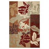 Kas Rugs Autumn Patch Sage 3 ft. 3 in. x 5 ft. 3 in. Area Rug