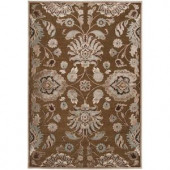 Artistic Weavers Lauren Chocolate Viscose and Chenille 5 ft. 1 in. x 7 ft. 6 in. Area Rug