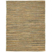 Anji Mountain Ilana Brown Jute and Chenille Cotton 4 ft. x 6 ft. Area Rug