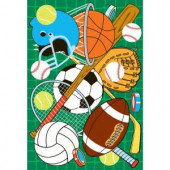 LA Rug Inc. Fun Time Let's Play Green Multi Colored 19 in. x 29 in. Accent Rug