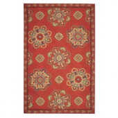 Home Decorators Collection Bianca Red 2 ft. 6 in. x 4 ft. Area Rug
