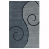 Home Decorators Collection Swirl Grey 8 ft. x 11 ft. Area Rug