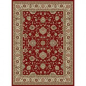 Tayse Rugs Elegance Red 5 ft. x 7 ft. Traditional Area Rug
