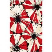 Safavieh Soho Black/Red 7.5 ft. x 9.5 ft. Area Rug