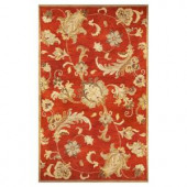 Kas Rugs Modern Traditions Rust 5 ft. x 8 ft. Area Rug