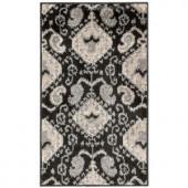 Nourison Kindred KIN01 Black 2 ft. 3 in. x 3 ft. 9 in. Scatter Rug