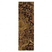 Home Decorators Collection Promanade Brown 2 ft. 6 in. x 8 ft. Runner