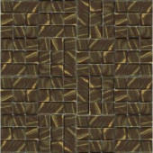 EPOCH Metalz Bronze-1012 Mosiac Recycled Glass Mesh Mounted Tile - 4 in. x 4 in. Tile Sample