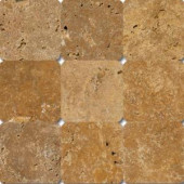 MS International Versailles Gold 4 in. x 4 in. Tumbled Travertine Floor & Wall Tile