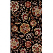 Home Decorators Collection Chivalry Black 5 ft. 3 in. x 8 ft. 3 in. Area Rug