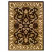 LR Resources Traditional Design with Brown and Cream swirls. It is 7 ft. 9 in. x 9 ft. 9 in. and it is a Plush Indoor Area Rug