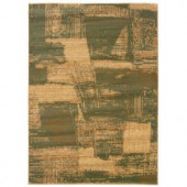 LR Resources Abstract Brushstroke Design with Rich Creams and Dark Yellows 7 ft. 9 in. x 9 ft. 9 in. Soft and Plush indoor Area Rug
