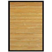 Anji Mountain Contemporary Natural Light Brown with Black Border 2 ft. x 3 ft. Area Rug