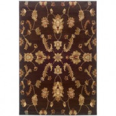 LR Resources Transitional Brown 1 ft. 10 in. x 3 ft. 1 in. Plush Indoor Area Rug
