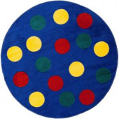 Artistic Weavers Play Yard Blue 4 ft. 4 in. x 4 ft. 4 in. Round Area Rug