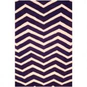 Safavieh Cambridge Purple/Ivory 6 ft. x 9 ft. Area Rug