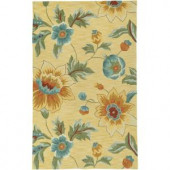 LR Resources Enchant Yellow 7 ft. 9 in. x 9 ft. 9 in. Plush Indoor Area Rug
