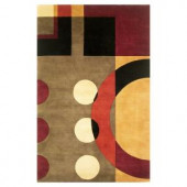 Kas Rugs Contempo Earth Jeweltone 5 ft. 3 in. x 8 ft. 3 in. Area Rug