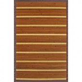 Anji Mountain Premier Brown and Light Brown Striped 5 ft. x 8 ft. Bamboo Area Rug