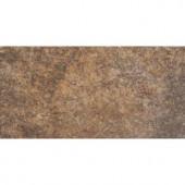 MARAZZI 6 in. x 12 in. Granite Marron Porcelain Floor and Wall Tile