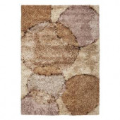 Kas Rugs Shag Finesse 5 Beige/Brown 7 ft. 6 in. x 9 ft. 6 in. Area Rug