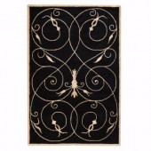 Home Decorators Collection Scrolls Black 3 ft. 6 in. x 5 ft. 6 in. Area Rug