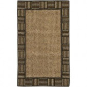 Mohawk Twine Border Elm/Gold 2 ft. 6 in. x 3 ft. 10 in. Accent Rug