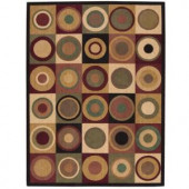Nourison Parallels Multicolored 3 ft. 6 in. x 5 ft. 6 in. Area Rug