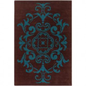 Chandra Venetian Brown/Blue 7 ft. 9 in. x 10 ft. 6 in. Indoor Area Rug