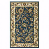 Home Decorators Collection Dudley Navy/Beige 7 ft. 6 in. x 9 ft. 6 in. Area Rug