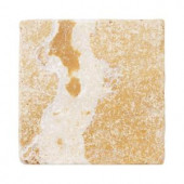 Jeffrey Court Travertino Gold 4 in. x 4 in. Travertine Wall & Floor Tile (9 pieces/sq. ft.)