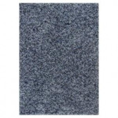 Kas Rugs Stocky Shag Blue/Light Blue 2 ft. 3 in. x 3 ft. 9 in. Area Rug