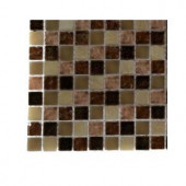 Splashback Tile Southern Comfort Squares Glass - 6 in. x 6 in. Tile Sample