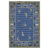 Kas Rugs Sail the Seas Blue 2 ft. 6 in. x 4 ft. 2 in. Area Rug