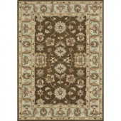 Loloi Rugs Fairfield Life Style Collection Brown Turquoise 7 ft. 6 in. x 9 ft. 6 in. Area Rug