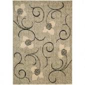 Nourison Rug Boutique Floral Imprints Ivory 5 ft. 3 in. x 7 ft. 5 in. Area Rug