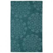 Kaleen Imprints Classic Turquoise 2 ft. x 3 ft. Area Rug