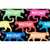 Bungalow Flooring Printed Meow 17.5 in. x 26.5 in. Pet Mat