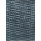 LR Resources Illusion Blue 5 ft. x 7 ft. Extremely Plush Indoor Area Rug