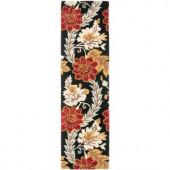 Safavieh Blossom Black/Multi 2.3 ft. x 8 ft. Runner