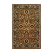 Home Decorators Collection Chateaux Rust and Blue 3 ft. x 5 ft. Area Rug
