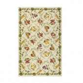 Home Decorators Collection Fruit Garden Ivory 5 ft. 3 in. x 8 ft. 3 in. Area Rug
