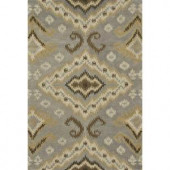 Loloi Rugs Fairfield Life Style Collection Slate Gold 7 ft. 6 in. x 9 ft. 6 in. Area Rug