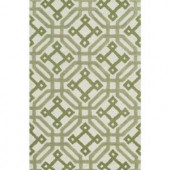 Loloi Rugs Weston Lifestyle Collection Ivory Green 3 ft. 6 in. x 5 ft. 6 in. Area Rug