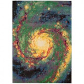 Nourison Altered States Galaxy Multicolor 8 ft. x 10 ft. Area Rug